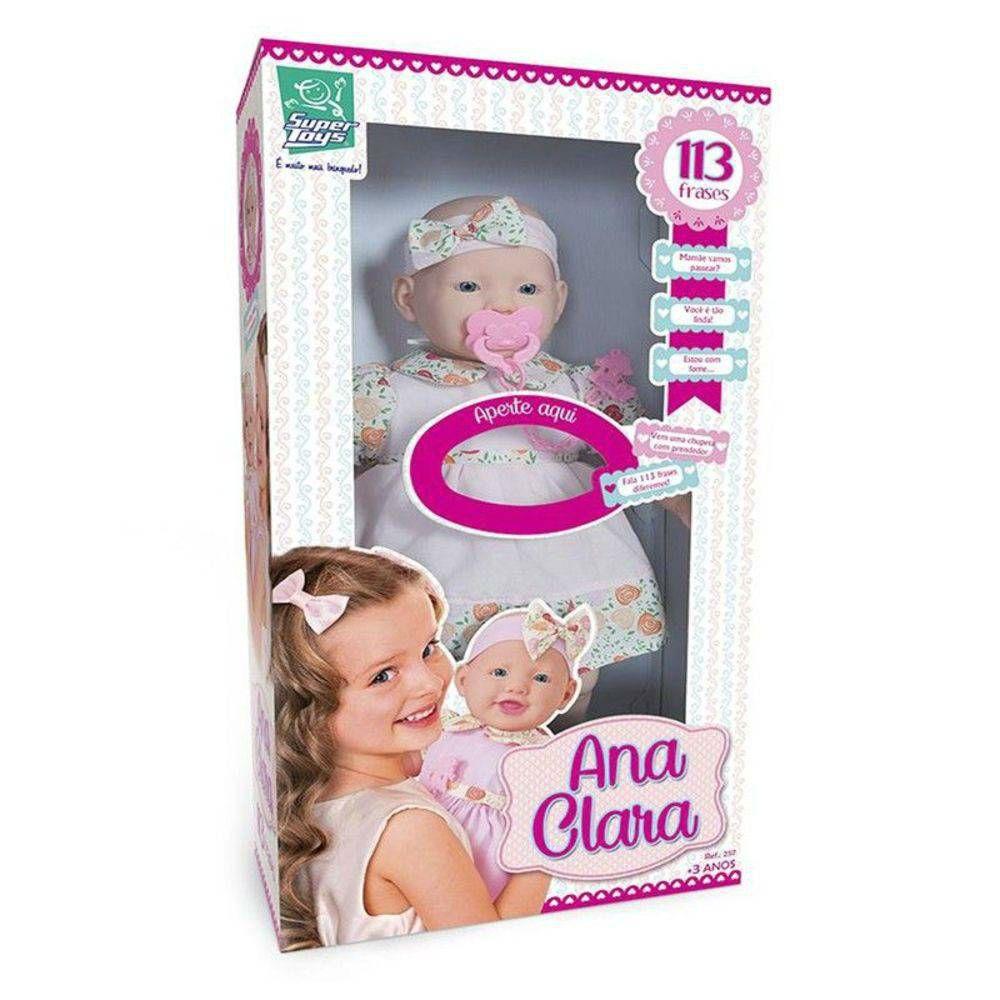Boneca Ana Clara 113 Frases Super Toys