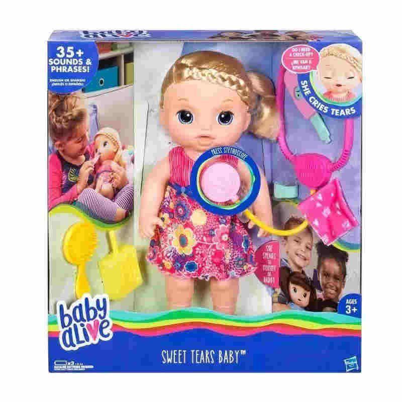 Boneca Baby Alive Doces Lagrimas Loira Hasbro