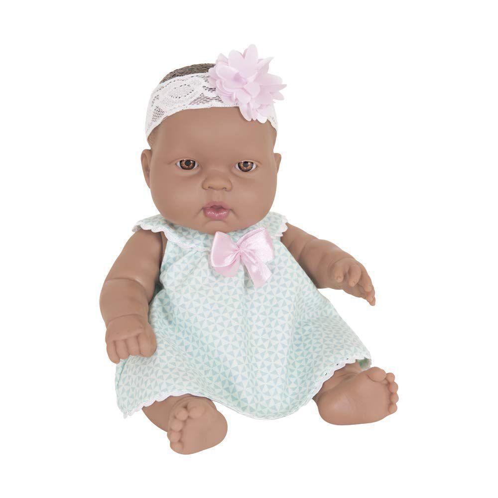 Boneca Baby Junior Bebezinho Negra Cotiplas