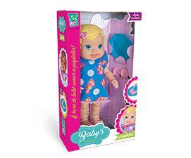 Boneca Babys Collection Papinha Super Toys