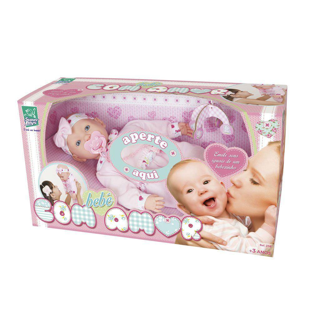 Boneca Bebe Com Amor Super Toys