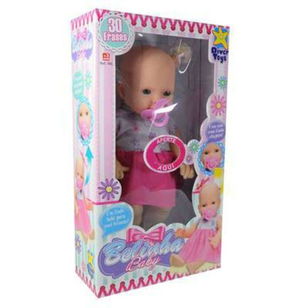 Boneca Belinha Baby C30 Frases Diver Toys