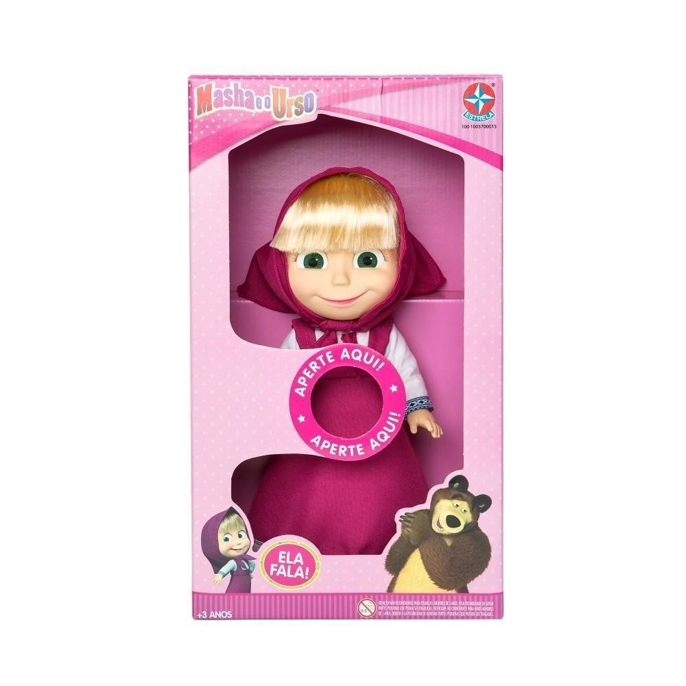 Boneca Com Som Masha - Masha E O Urso - Estrela
