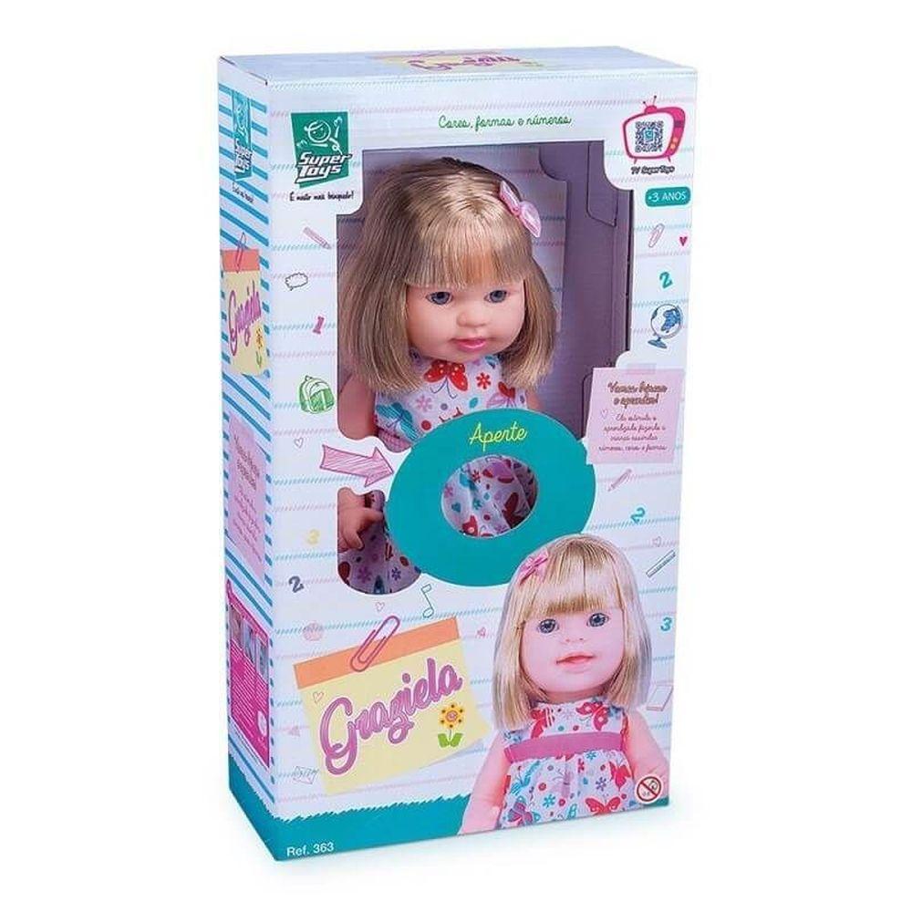 Boneca Graziela Cores e Formas Super Toys