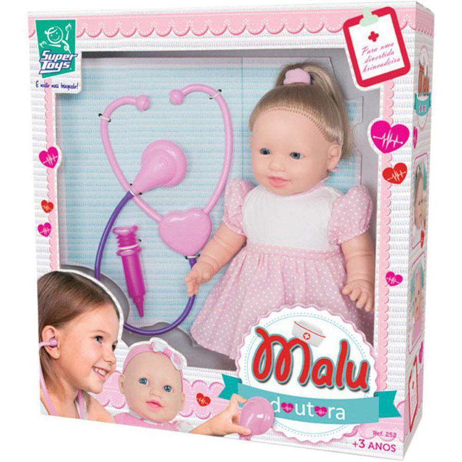 Boneca Malu Doutora C/Cabelo Super Toys