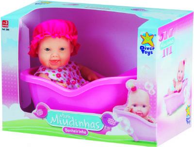Boneca Mini Miudinha Banheirinha Diver Toys