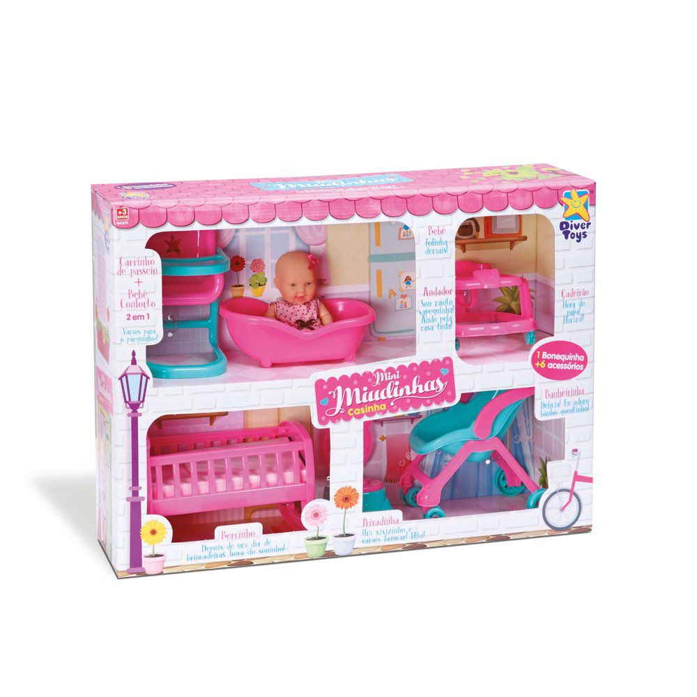 Boneca Mini Mudinhas Casinha Diver Toys