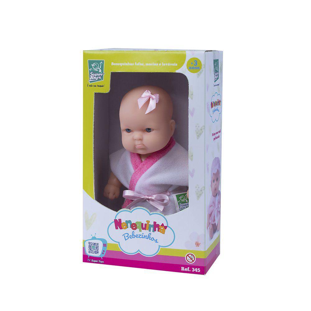 Boneca Nenequinha Bebezinho Super Toys