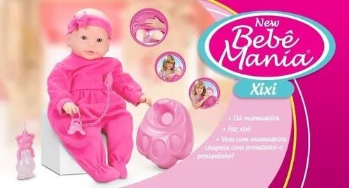 Boneca New Bebe Mania Xixi Roma