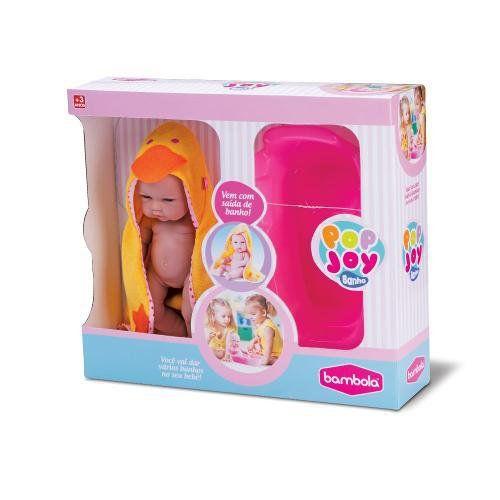 Boneca Pop Joy Banho Bambola