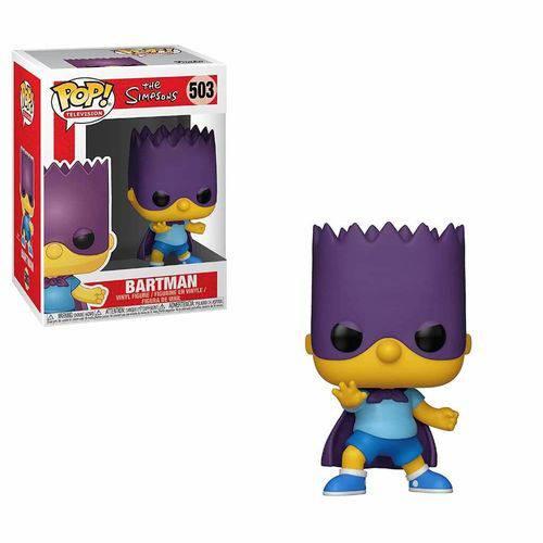 Boneco Os Simpsons Bartman Bart 503 Funko Pop