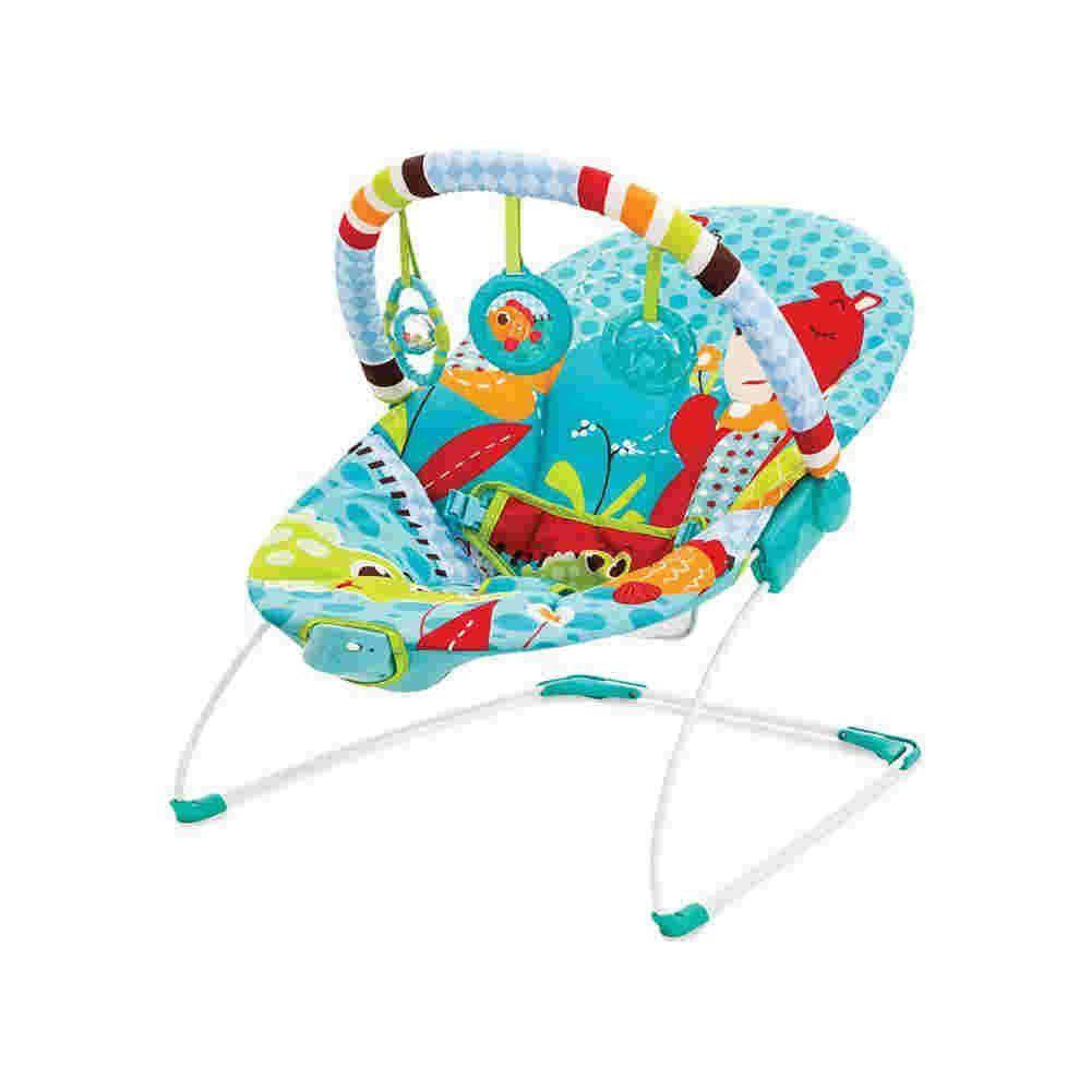 Cadeira De Descanso Vibratoria Azul Urso Mastela