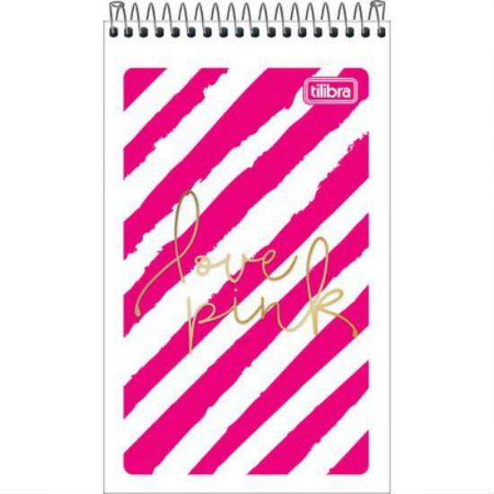 Caderneta C/F Aa 60 Folhas Love Pink Tilibra