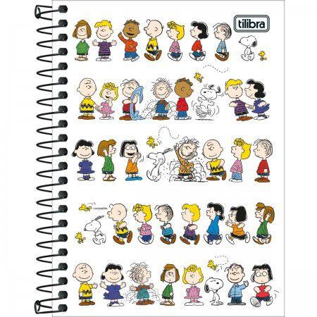 Caderneta Espiral C/D 1/8 80 Folhas Snoopy Tilibra