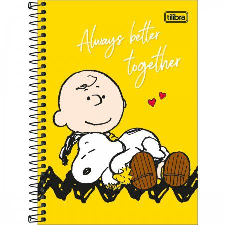 Caderno 1/4 C/D 80 Folhas Snoopy Tilibra