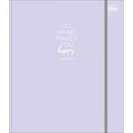 Caderno Argolado Cartonado Colegial Happy Com Elastico Tilibra