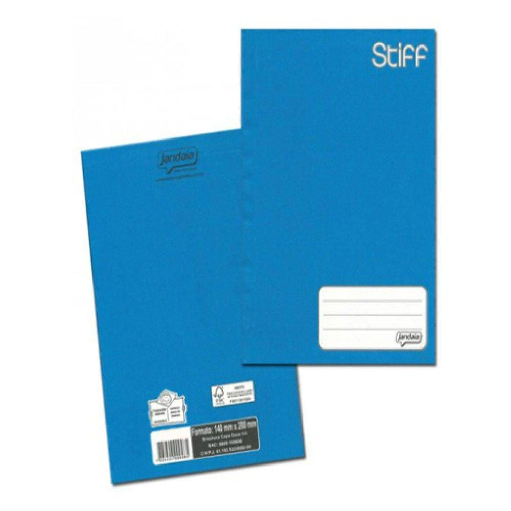 Caderno Brochura 1/4 C/D 48 Folhas Azul Jandaia