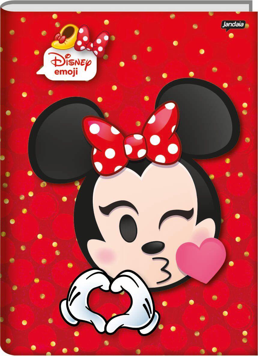 Caderno Brochura 1/4 C/D 48 Folhas Disney Emoji Jandaia