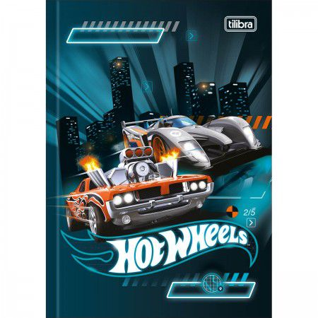 Caderno Brochura 1/4 C/D 80 Folhas Hot Wheels Tilibra