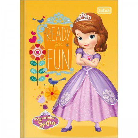 Caderno Brochura 1/4 C/D 80 Folhas Princesa Sofia Tilibra