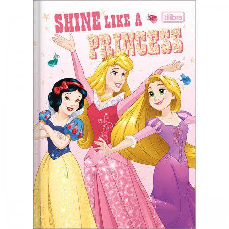 Caderno Brochura 1/4 C/D 80 Folhas Princesas Tilibra