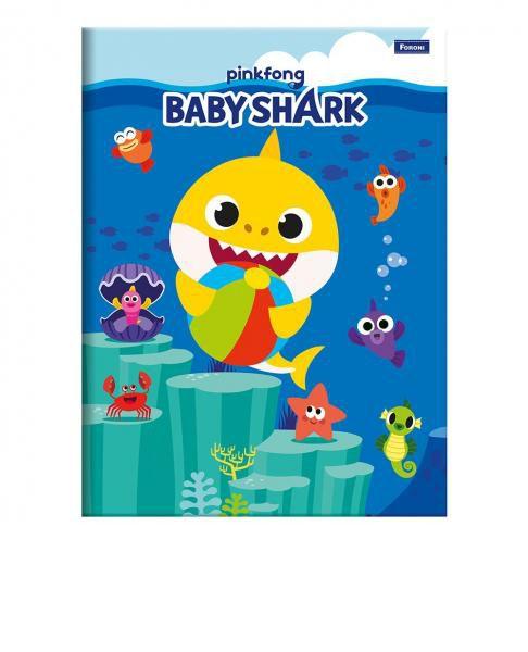 Caderno Brochura 1/4 C/D 96 Folhas Baby Shark Foroni