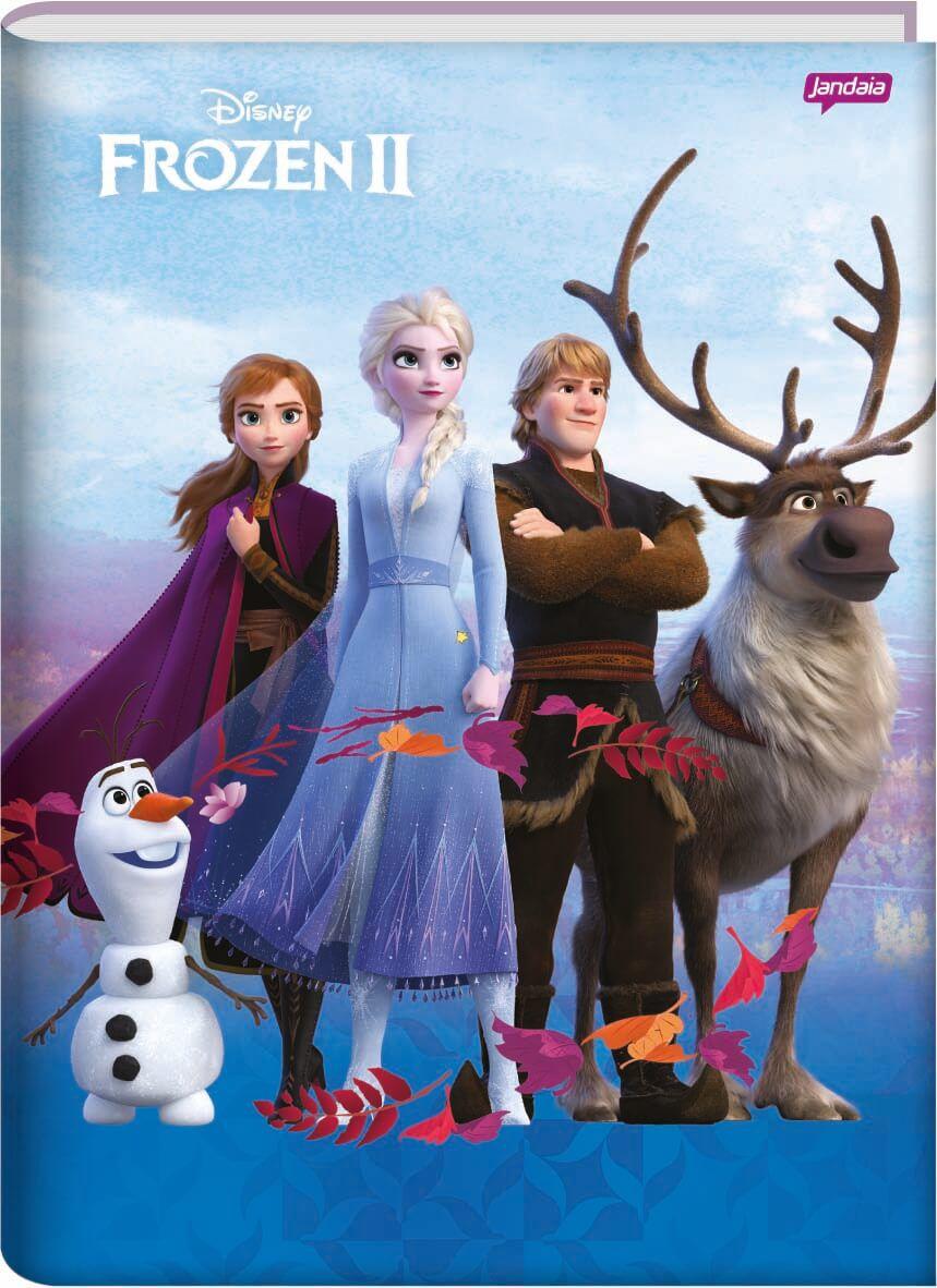 Caderno Brochura 1/4 C/D 96 Folhas Frozen Jandaia