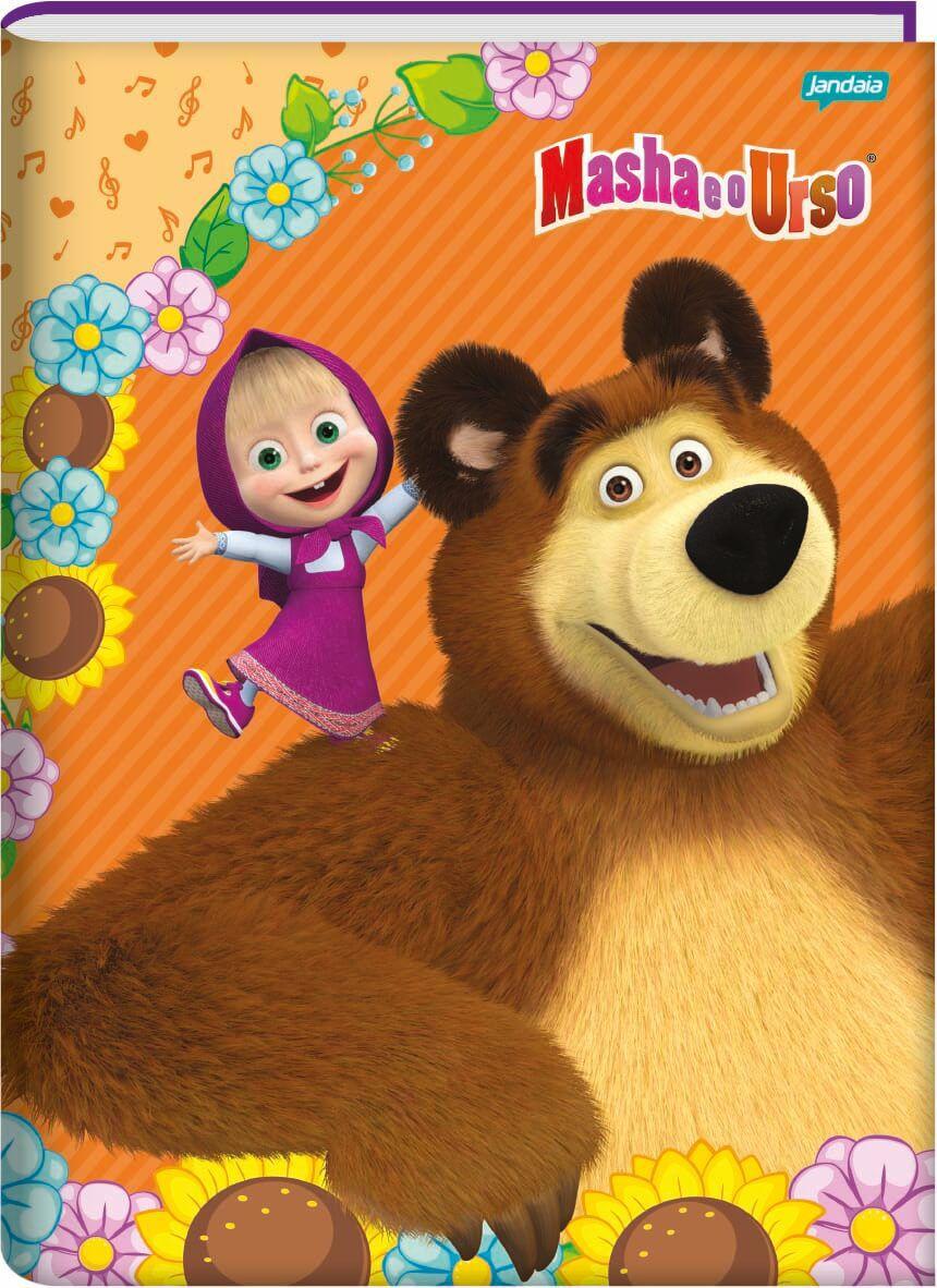 Caderno Brochura 1/4 C/D 96 Folhas Masha e o Urso Jandaia