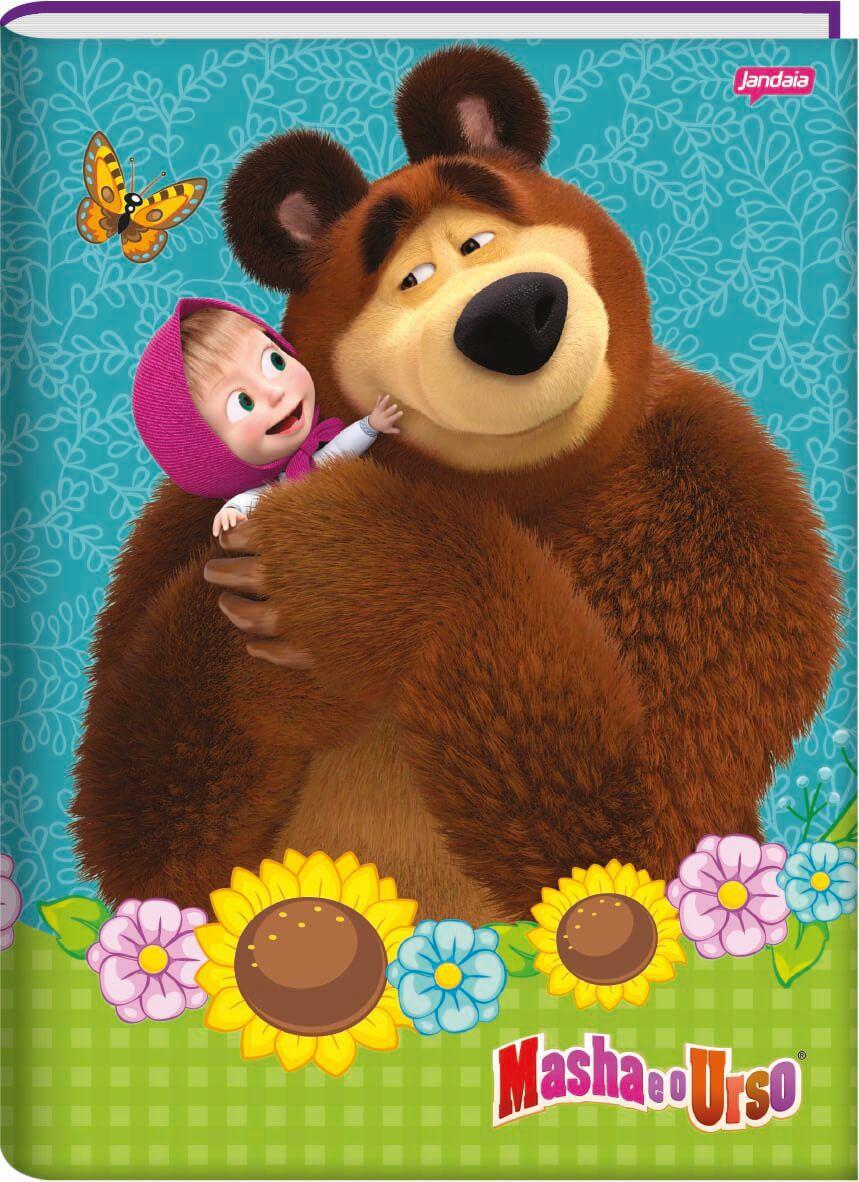 Caderno Brochurao C/D 48 Folhas Masha e o Urso Jandaia