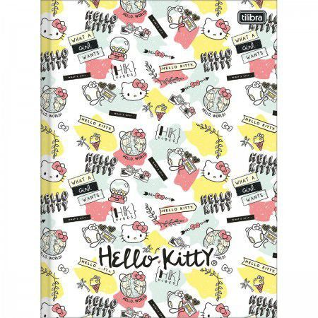 Caderno Brochurao C/D 96 Folhas Hello Kitty Tilibra