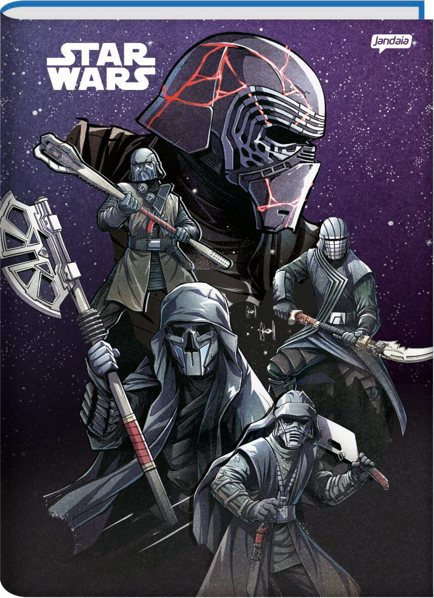 Caderno Brochurao C/D 96 Folhas Star Wars Jandaia