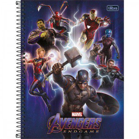 Caderno C/D 01 Materia Avengers Endgame 80 Folhas Tilibra