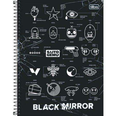 Caderno C/D 01 Materia Black Mirror 80 Folhas Tilibra