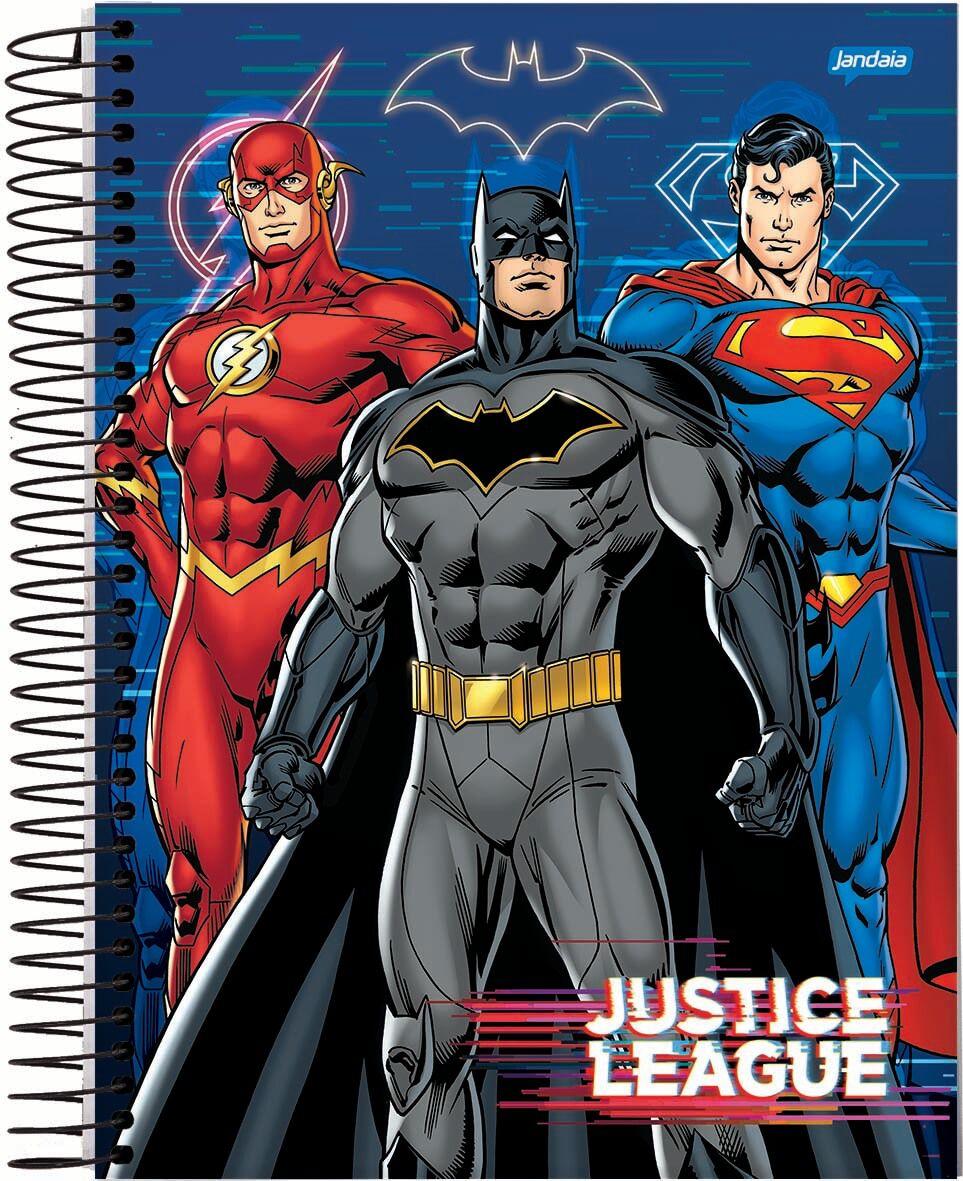 Caderno C/D 01 Materia Liga Da Justiça Filme 80 Folhas Jandaia
