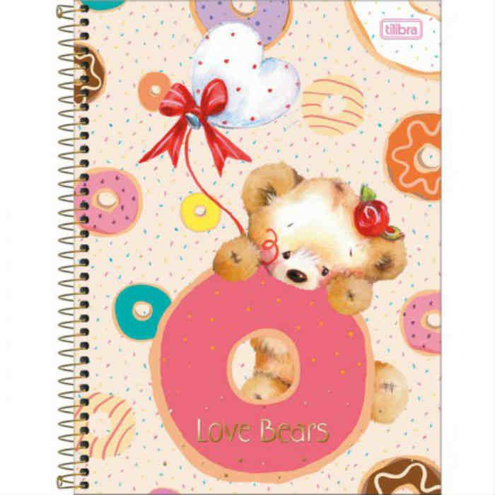 Caderno C/D 01 Materia Love Bears Tilibra