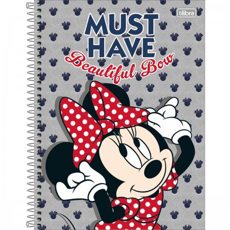 Caderno C/D 01 Materia Minnie Light 80 Folhas Tilibra