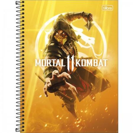 Caderno C/D 01 Materia Mortal Kombat 80 Folhas Tilibra