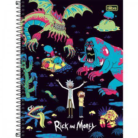 Caderno C/D 01 Materia Rick And Morty 80 Folhas Tilibra