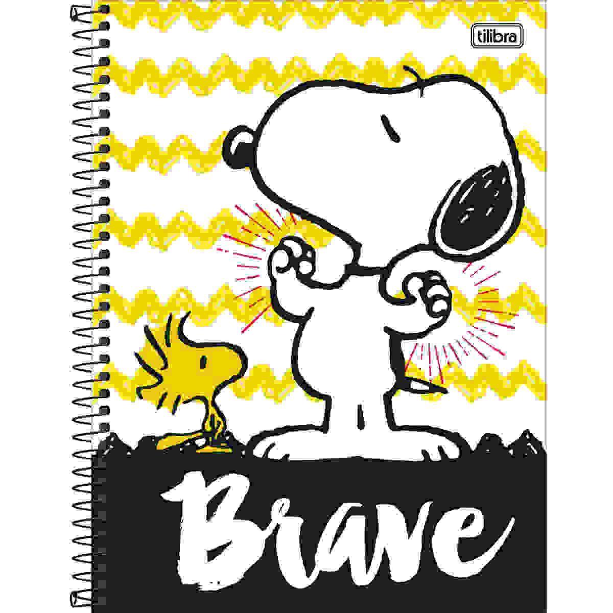 Caderno C/D 01 Materia Snoopy Tilibra