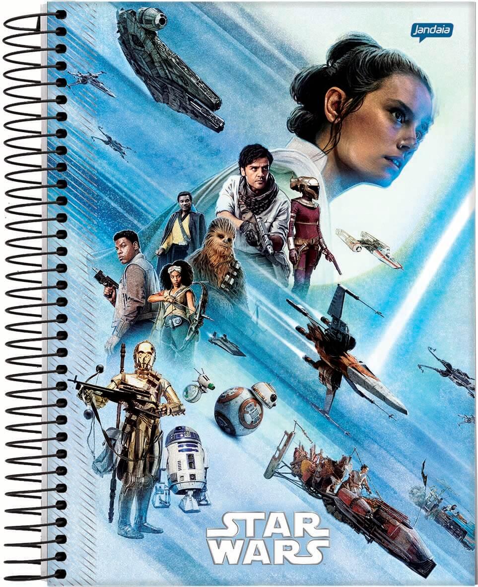 Caderno C/D 01 Materia Star Wars Filme 80 Folhas Jandaia