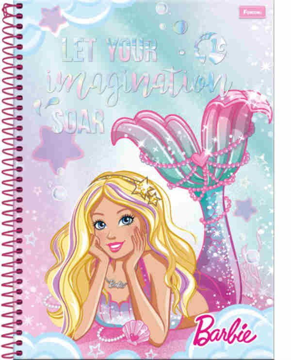 Caderno C/D 01 Materias Barbie Dreamtopia Foroni