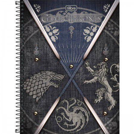 Caderno C/D 10 Materias Game Of Thrones 160 Folhas Tilibra