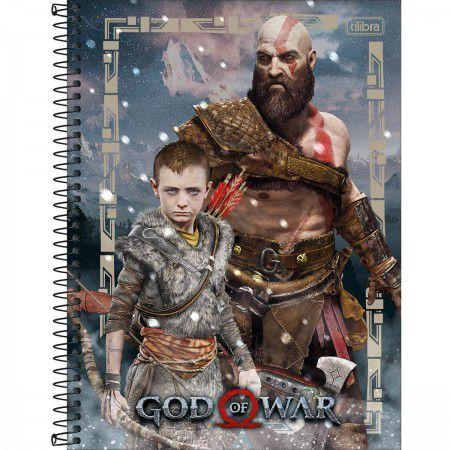 Caderno C/D 10 Materias God Of War 160 Folhas Tilibra