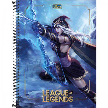 Caderno C/D 10 Materias League Of Legends 160 Folhas Tilibra