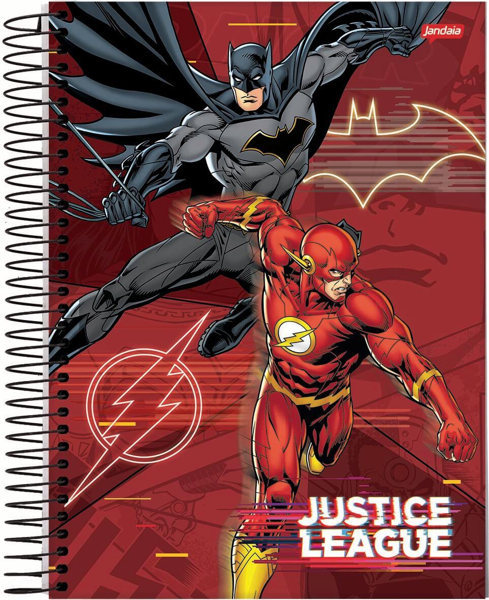 Caderno C/D 10 Materias Liga Da Justiça Filme 160 Folhas Jandaia
