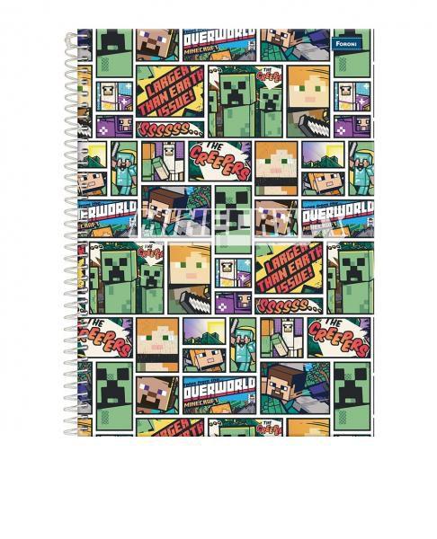 Caderno C/D 10 Materias Minecraft Foroni