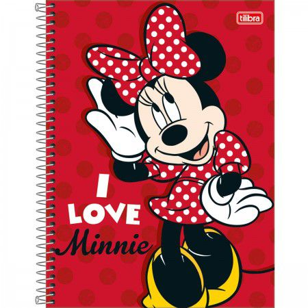 Caderno C/D 10 Materias Minnie Light 160 Folhas Tilibra