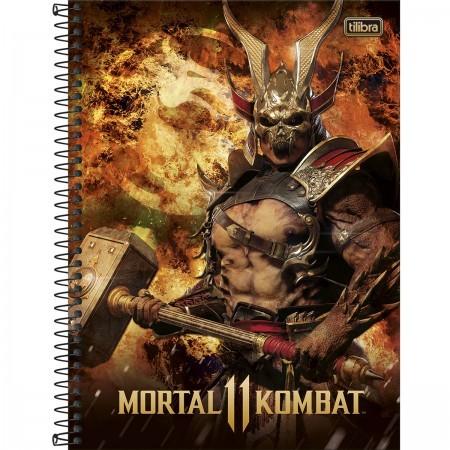 Caderno C/D 10 Materias Mortal Kombat 160 Folhas Tilibra