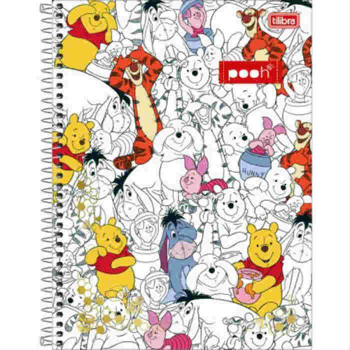 Caderno C/D 10 Materias Pooh Tilibra