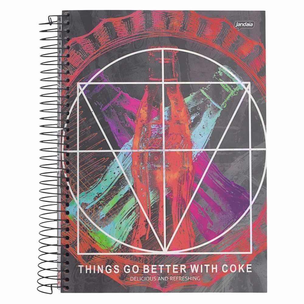 Caderno C/D 12 Materias Coca Cola Jandaia
